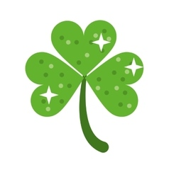 clover leafs saint patrick day ornament shiny vector image vector image