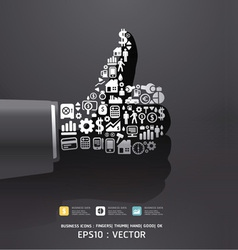 Elements are small icons Finance vector image vector image