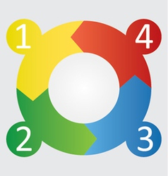 four step round diagram vector image