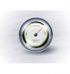 icon speedometer or clock eps vector image