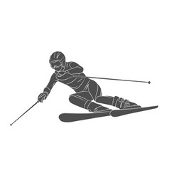 skiing slalom athlete winter sports vector image