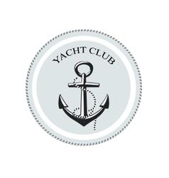 yacht club logo anchor on a white vector image vector image