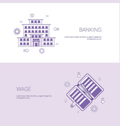 banking and wage finance business concept template vector image