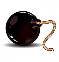 danger bomb vector image vector image
