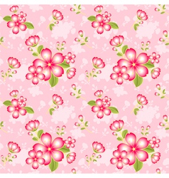 Oriental Flower Seamless Pattern vector image vector image