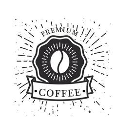 premium coffee ribbon coffee bean background vector image vector image