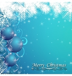 Abstract Christmas ball on New Year background vector image
