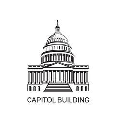 capitol building icon vector image vector image