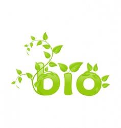 eco bio vector image vector image