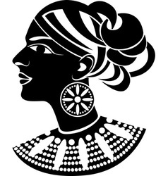 Female profile in african style vector image vector image