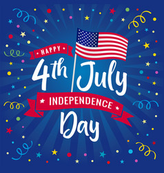 4th july independence day usa blue beams vector image