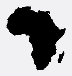 Africa island map silhouette vector