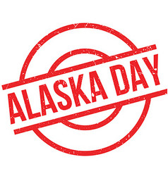 Alaska Day rubber stamp vector
