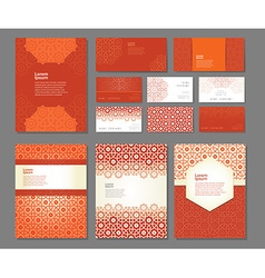 Banners and visit cards templates vector