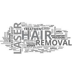 Benefits of laser hair removal text word cloud vector