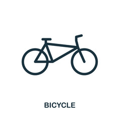 Bicycle icon in flat style icon design vector