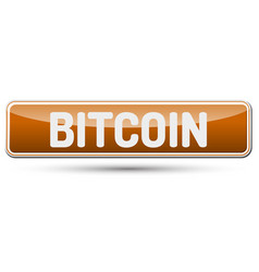 bitcoin - abstract beautiful button with text vector image