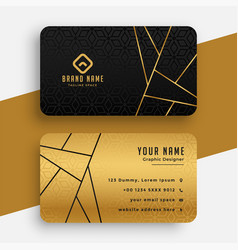 black and gold luxury vip business card design vector image