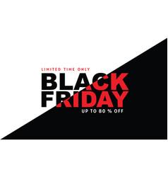 Black friday sale banner design template gold vector