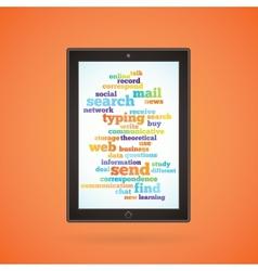 Brown tablet vector image