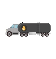 cargo truck with oil tank vector image