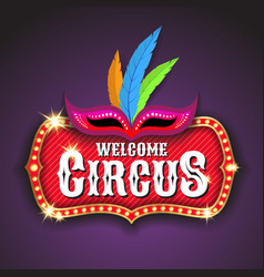 Circus banner background design vector