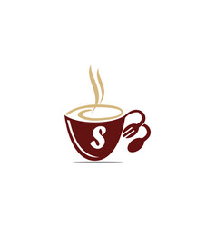 Coffee cup restaurant letter s vector