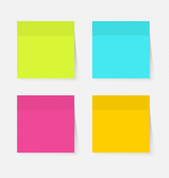 Color sticky notes vector