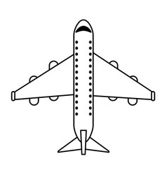 commercial airplane topview icon image vector image