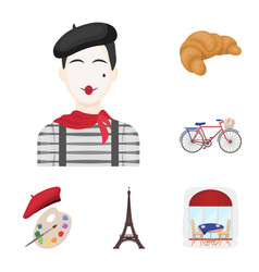 Country france cartoon icons in set collection for vector