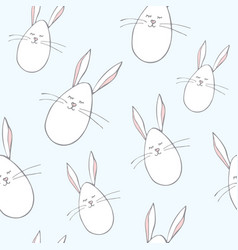 cute babunny seamless wallpaper pastel pattern vector image