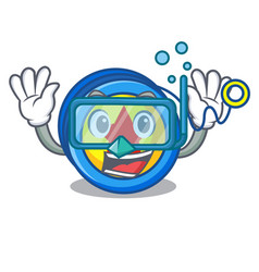 Diving yoyo character cartoon style vector