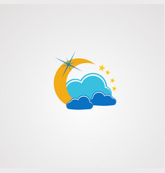 dream cloud logo icon element and template for vector image