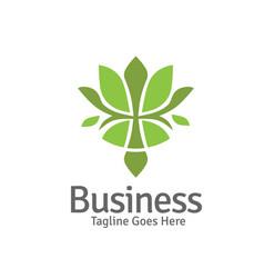 elegant lotus flower logo vector image