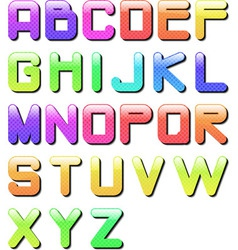 eps10 glossy alphabet vector image