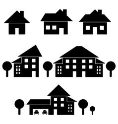 Estate black silhouettes vector image