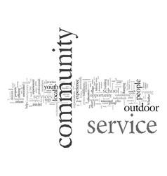 Explore outdoor community service vector