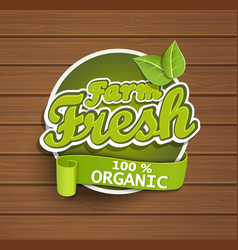 Farm fresh label vector