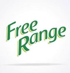 Free range green text vector