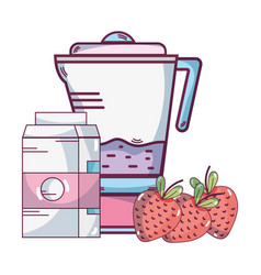 fruit smoothie cartoon vector image