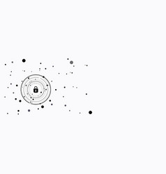 Global network security on white vector