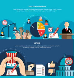 Government elections concept vector