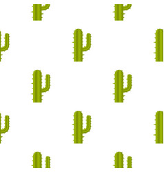 Green mexican cactus pattern seamless vector