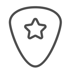 Guitar pick line icon musical and plectrum vector
