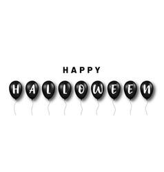 happy halloween background black balloons vector image