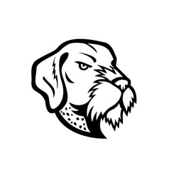 Head german wirehaired pointer mascot black vector