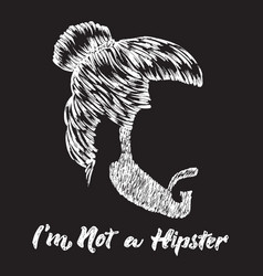 Hipster hair and beard vintage design poster with vector