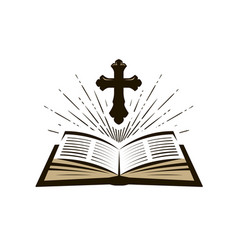 holy bible symbol worship church psalm icon vector image