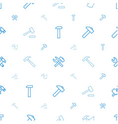 Hummer icons pattern seamless white background vector