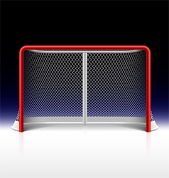 Ice hockey net goal on black vector